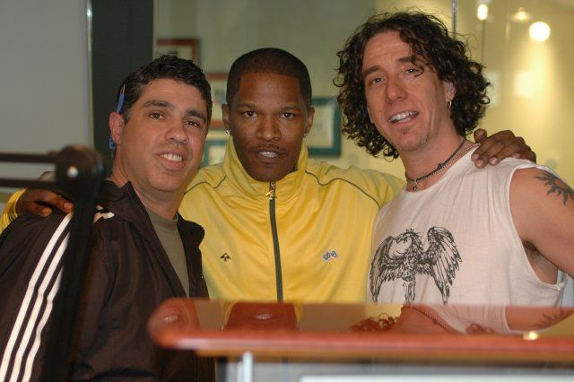 Jamie Foxx with Gary Dell'Abate and Ralph Cirella