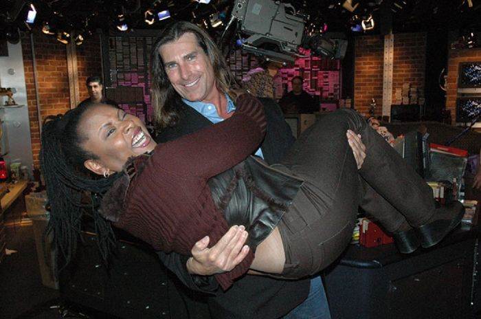 Heartthrob Fabio was on in 2005 to promote his show 'Mr. Romance'. He talked about being banned from the Playboy Mansion and - literally - swept Robin off her feet.