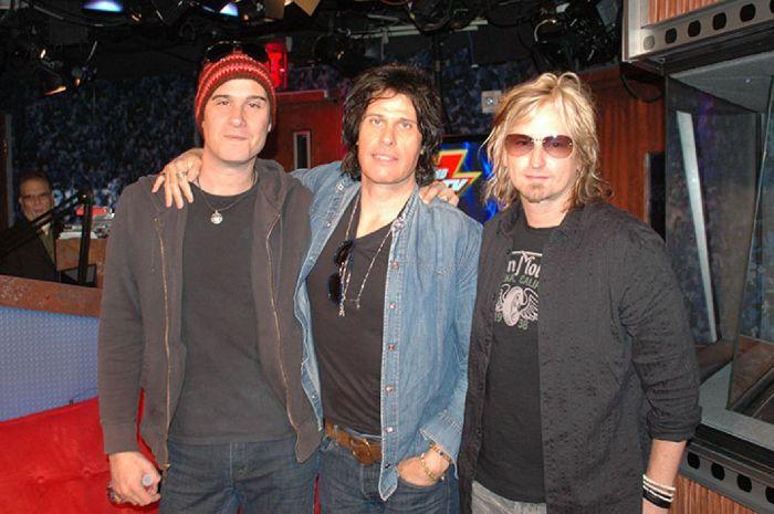 Dean DeLeo, Robert DeLeo and Eric Kretz of Stone Temple Pilots