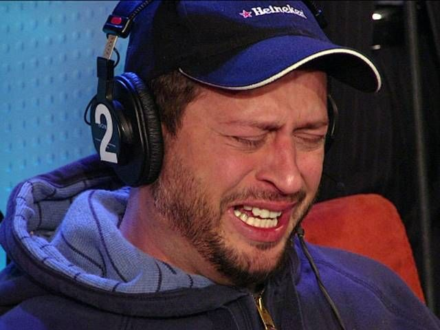 Sal the Stockbroker crying on air