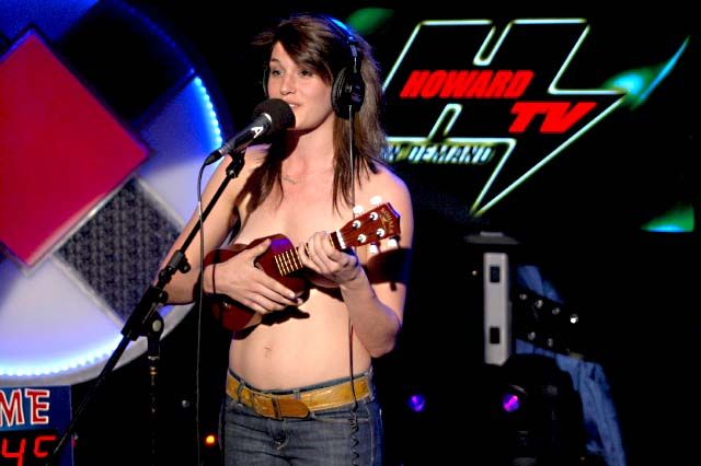 Scout Durwood performs topless for charity