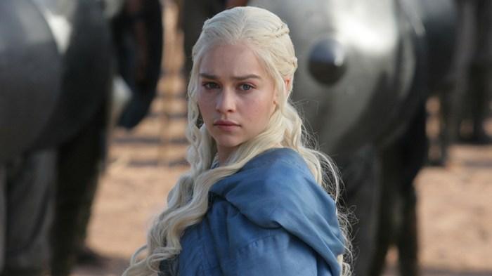 "Emilia Clarke as Daenerys Targaryen, aka Khaleesi, on HBO's ""Game of Thrones"""