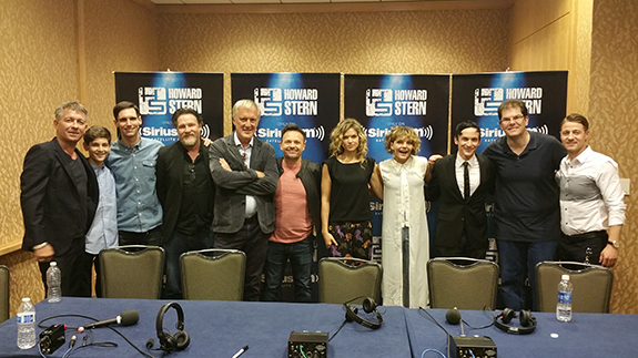 """The entire cast of """"Gotham"""" - one of Howard's favorite shows - with Jon Hein"""