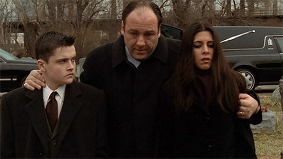 "James Gandolfini as Tony Soprano on HBO's ""The Sopranos"""