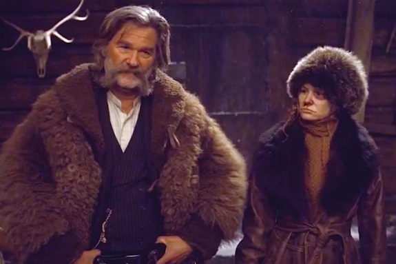 "Kurt Russell and Jennifer Jason Leigh in ""The Hateful Eight"""