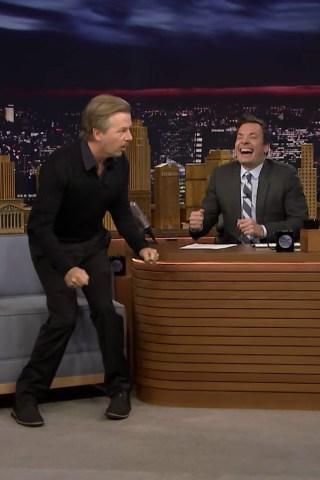 David Spade Tells Jimmy Fallon Some 'Rough' Jokes