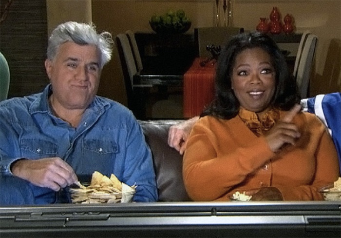 Jay Leno and Oprah Winfrey's couch commercial