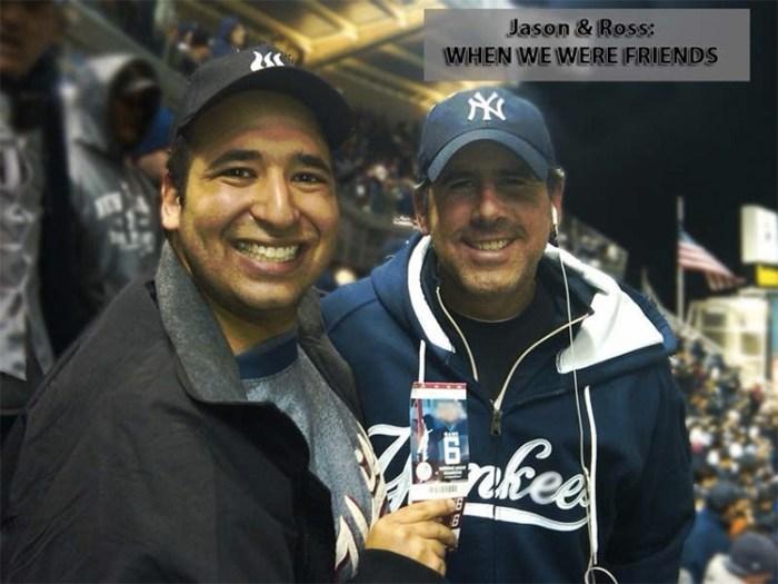 Jason Kaplan and Ross Zapin at a Yankees game
