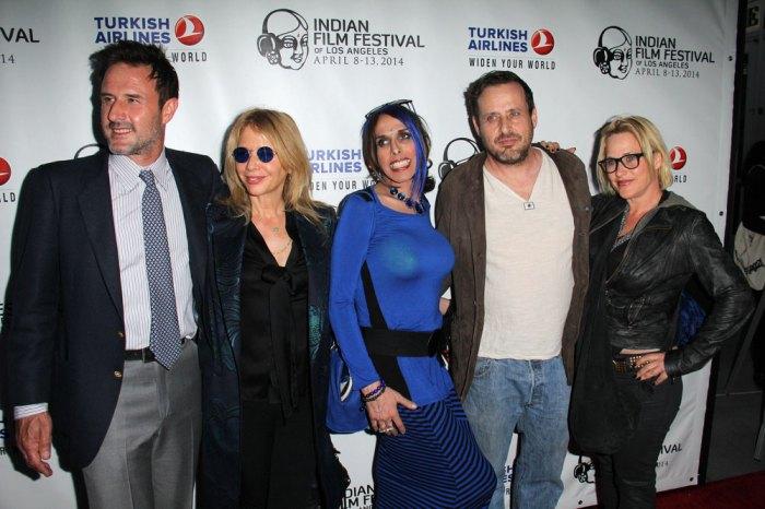 Arquette family (L-R) David, Rosanna, Alexis, Richmond, and Patricia