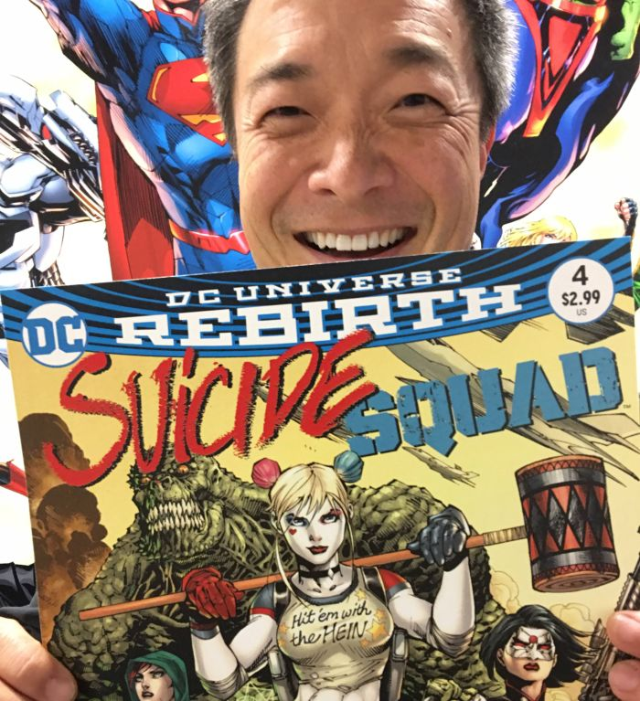 """DC Comics artist Jim Lee holds new issue of """"Suicide Squad"""""""