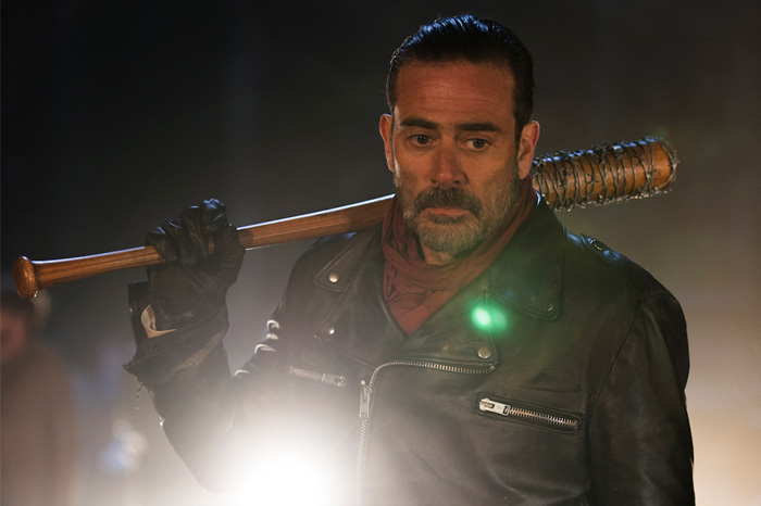 """Negan (played by Jeffrey Dean Morgan) and Lucille (played by a bat) on """"The Walking Dead"""""""