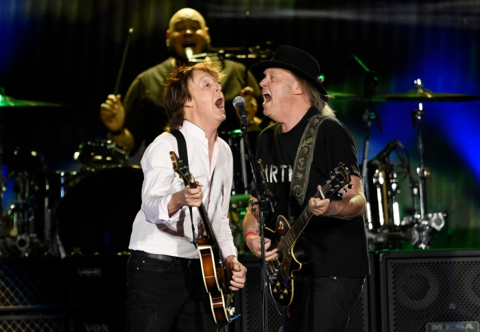 Paul McCartney and Neil Young at the Desert Trip music festival