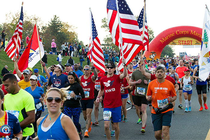 41st Marine Corps Marathon on Sunday, Oct. 30, 2016