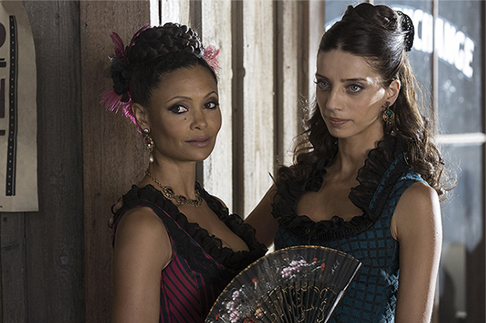 "Thandie Newton and Angela Sarafyan on HBO's ""Westworld"""