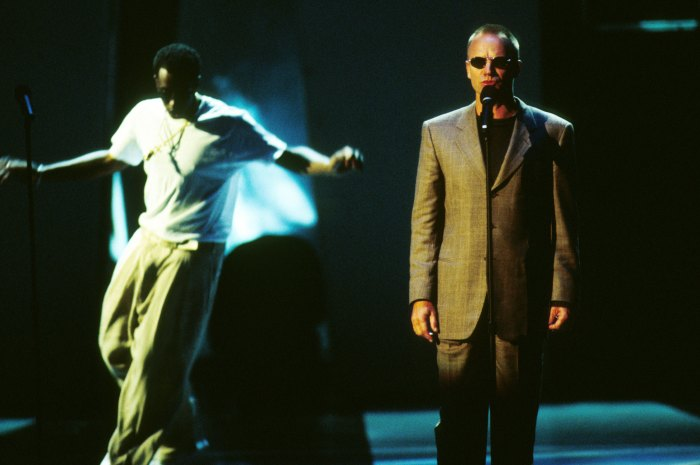 Sting and Puff Daddy perform at 1997 MTV Video Music Awards