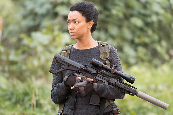 "Sasha (Sonequa Martin-Green) on ""The Walking Dead"""