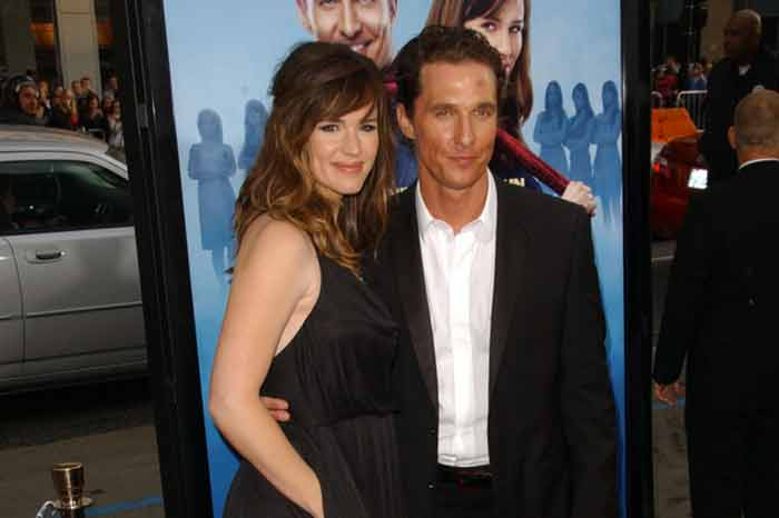 "Matthew McConaughey and Jennifer Garner at the premiere of ""Ghosts of Girlfriends Past"""