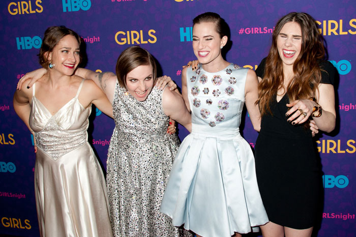 "The cast of ""Girls"" on the red carpet"