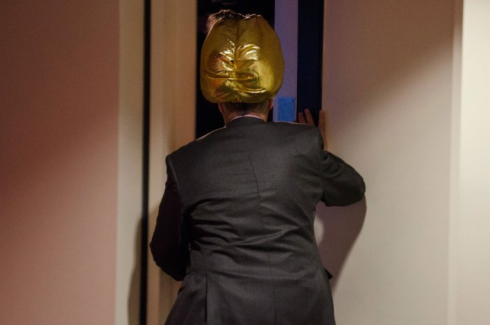 Gary Dell'Abate enters the Stern Show studio wearing his turban