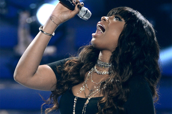 "Jennifer Hudson performs on ""American Idol"" in 2013."