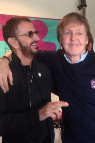 Paul McCartney and Ringo Starr Reunite in Studio