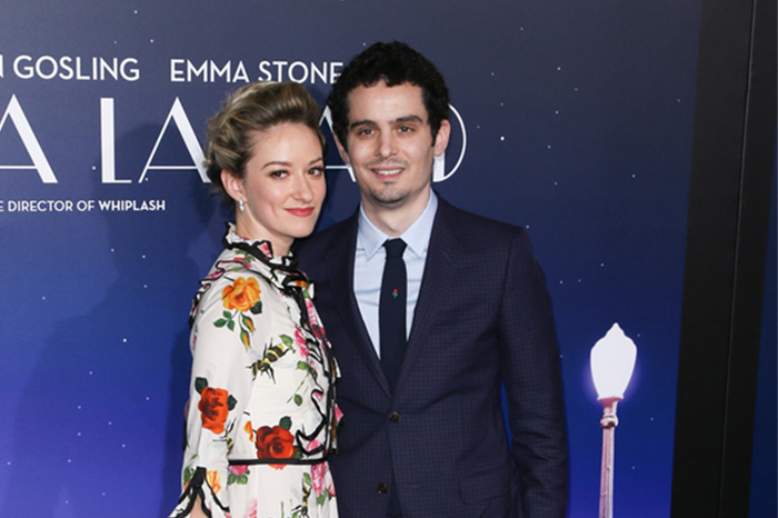 "Olivia Hamilton and ""La La Land"" director Damien Chazelle"