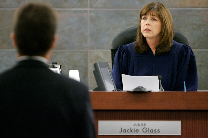 Judge Jackie Glass presides over the 2008 O.J. Simpson robbery case
