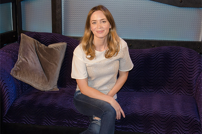 Emily Blunt during her first visit to the Stern Show in 2015.