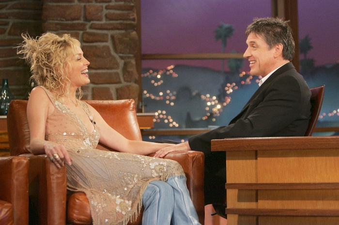 "Sharon Stone on ""The Late Late Show with Craig Ferguson"" in 2005"