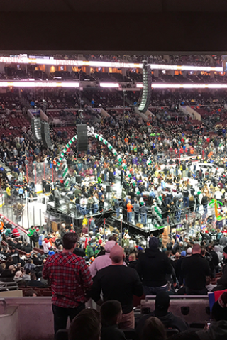 Wolfie, Richard Christy Attend Wing Bowl 25