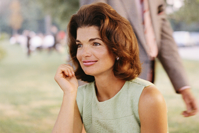 Former first lady Jacqueline Kennedy Onassis