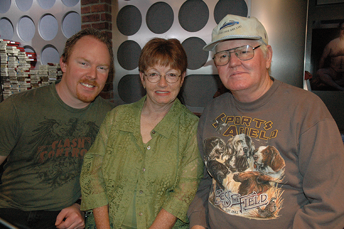 Richard Christy and his parents