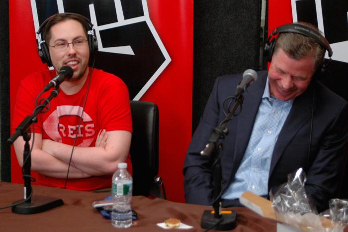 JD Harmeyer and Dan Patrick on Celebrity Superfan Roundtable in 2011