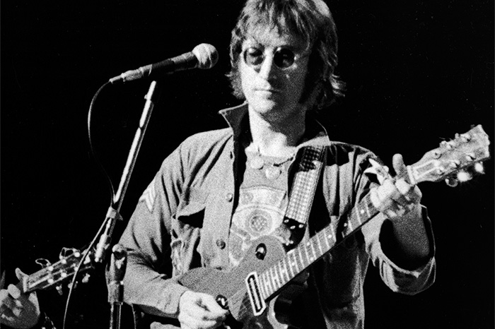 John Lennon performs at Madison Square Garden in 1974