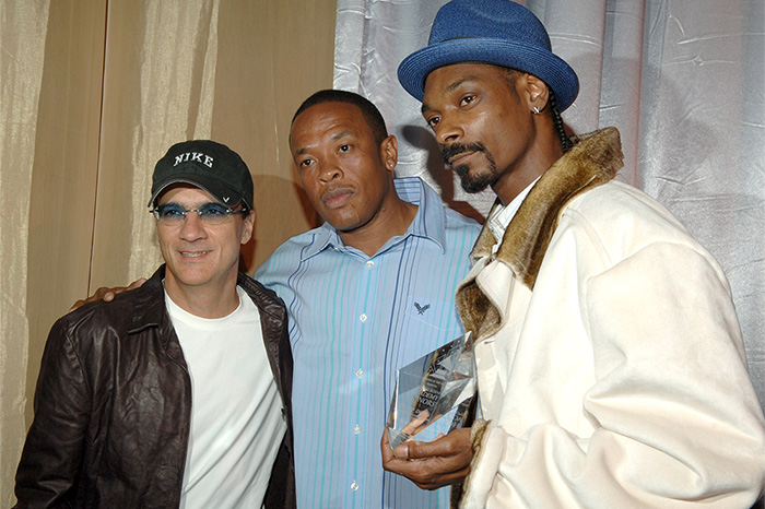 Jimmy Iovine, Dr. Dre, and Snoop Dogg in 2006