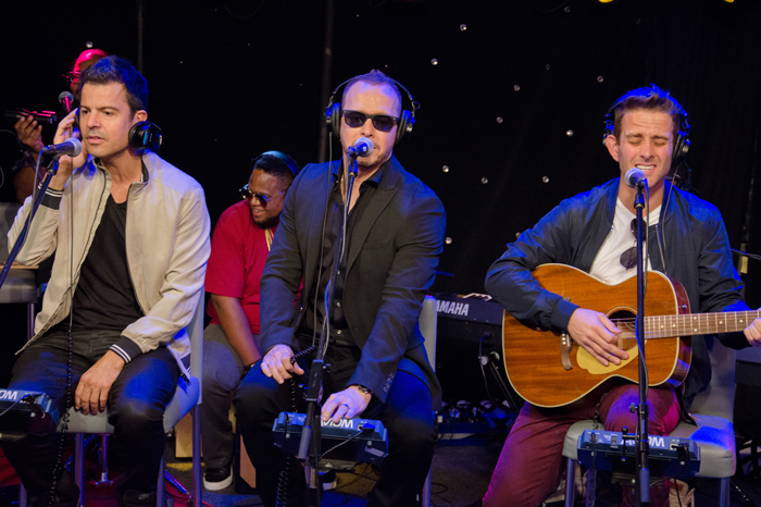 Jordan Knight, Donnie Wahlberg, and Joey McIntyre perform live on the Stern Show