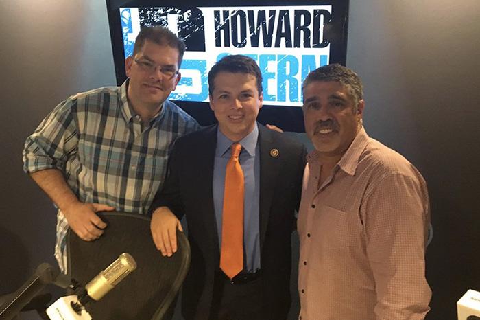 Jon Hein, U.S. Congressman Brendan Boyle, and Gary Dell'Abate