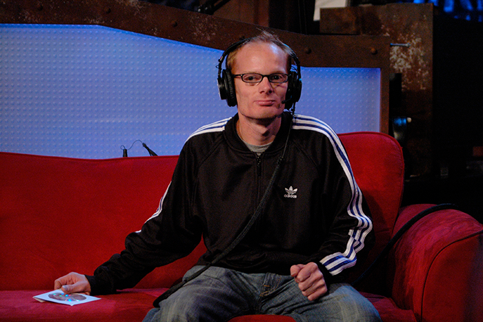 Medicated Pete during his intern days in in the studio