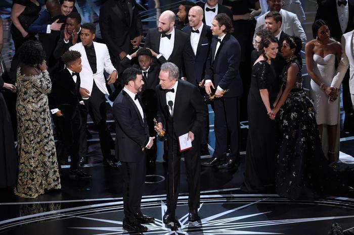 Jimmy Kimmel and Warren Beatty after