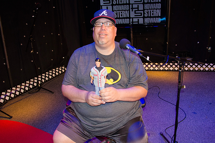 High Pitch Erik with a Donnie Wahlberg doll