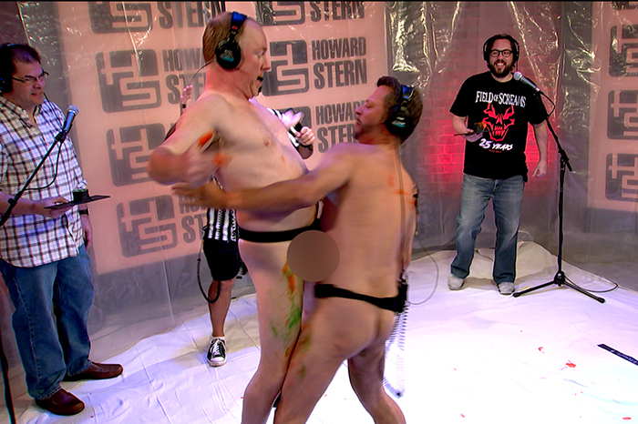"""Richard Christy and Sal Governale compete in a """"cock fight"""" during 2017's Cocktober"""