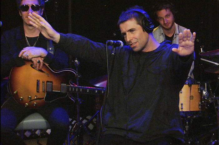 Liam Gallagher performs live on the Stern Show in July 2017