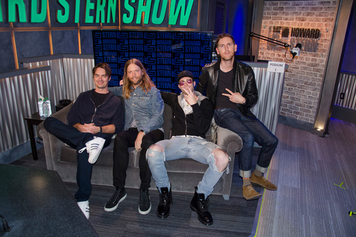 Maroon 5 on the Stern Show in 2017