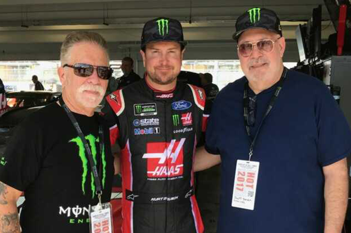 Ronnie Mund, Kurt Busch, and Scott Salem