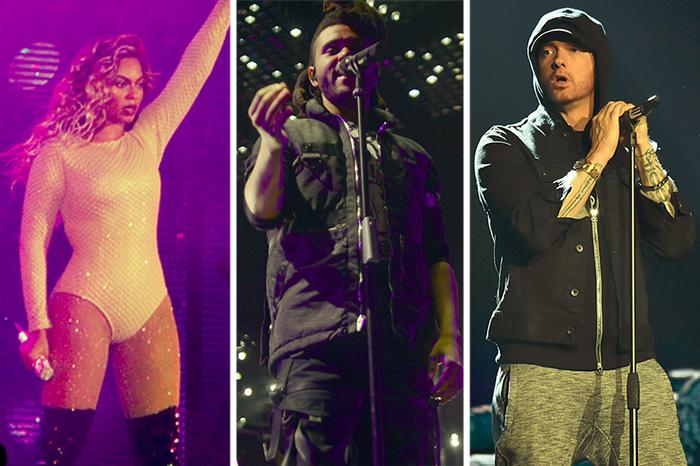 Beyoncé, The Weeknd, and Eminem