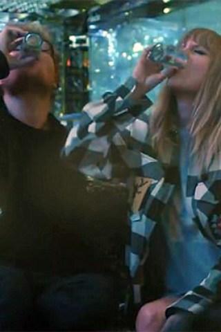 Taylor Swift & Ed Sheeran Pound Shots in New Video