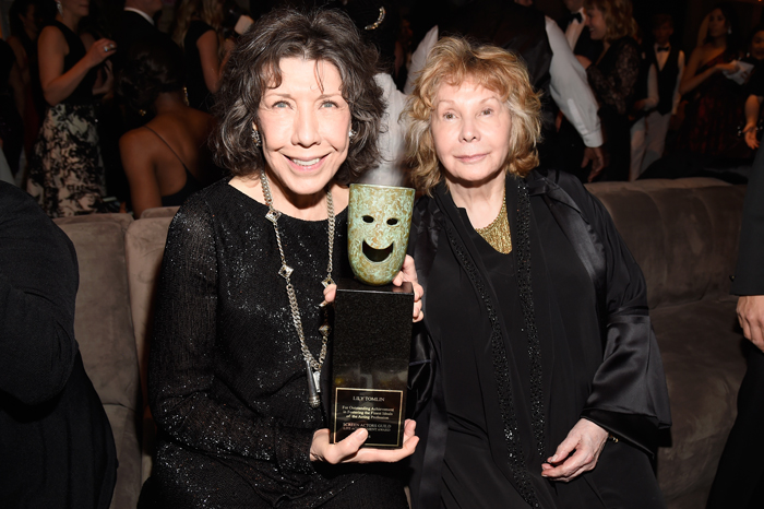 Lily Tomlin with her wife Jane Wagner