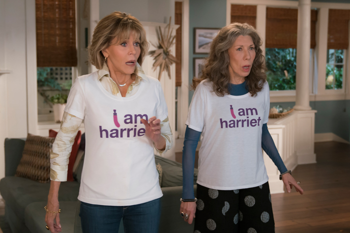 Jane Fonda and Lily Tomlin on their Netflix series