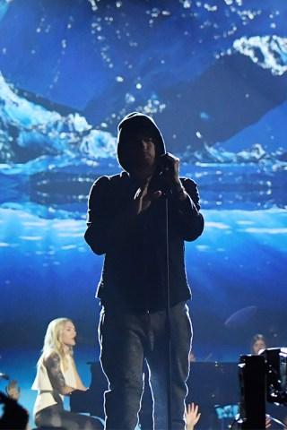 Eminem Takes Ed Sheeran to the 'River' in New Vid