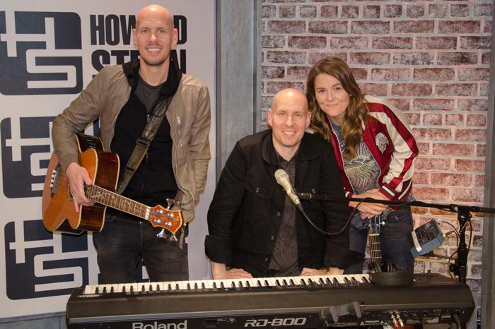 Brandi Carlile with twins Tim and Phil Hanseroth
